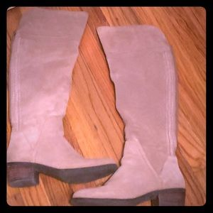 8.5 Tan Suede Vince Camuto thigh-high boots